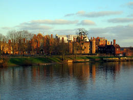 Approaching Hampton Court Palace , Donna S - January 2015
