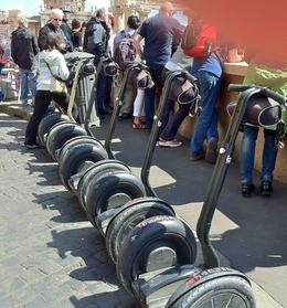 Nice line-up of segways. , Per K - April 2012