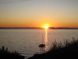 Sunset on Lummi, Skootre - October 2010