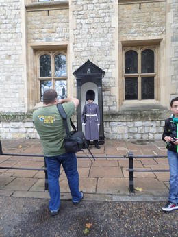 Photo of London Tower of London Entrance Ticket Including Crown Jewels and Beefeater Tour Me taking a picture of the hubby