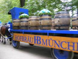 Beer Wagon coming thru Englisher Park heading to Munich Oktoberfest. , krdrose1 - October 2014