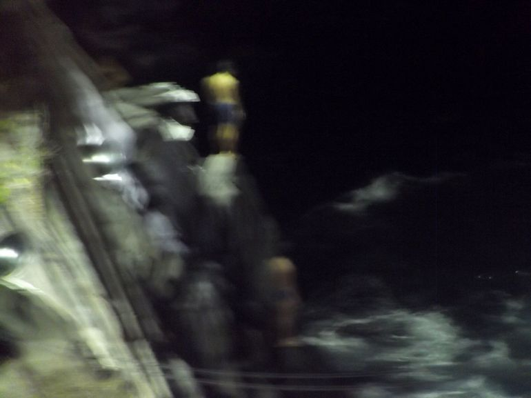 Here is one of the photos that I took of the divers.