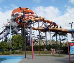 Photo of Gold Coast WhiteWater World Theme Park Gold Coast Australia Side-view of a slide