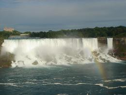 A rainbow pops up across the American and Bridal Veil Falls, Krishnan Vaitheeswaran - June 2009