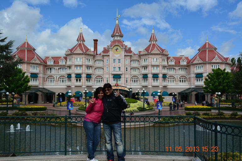 At Disney with Wife - Paris
