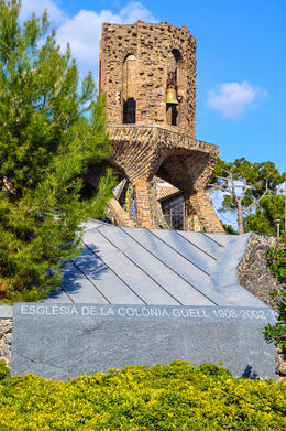Photo of Barcelona Private Montserrat, Gaudi and Modernism Day Trip from Barcelona Gaudi crypt / church at Colonial Guell