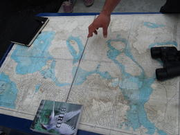 Photo of   Guide points out ourdestination