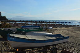 Photo of   La Carihuela Beach with Sierra Nevada in background