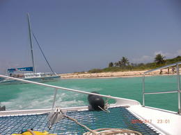 Our view while laying out on the front of the catamaran , Setti89 - June 2012