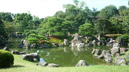 The gardens at Nijo Castle , AR C - October 2012