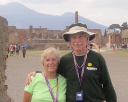 LeLe (Grammy) and John (Grumpy) - A day in Pompeii , John L - May 2013