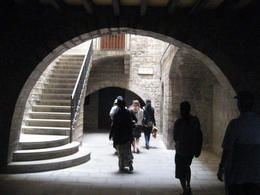 Taking a look at Roman Ruins under the Gothic Quarter , Kristine Mo. - June 2012