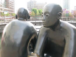 Giles Penny's sculpture of Two Men on a Bench. , London Expert: Gavin - March 2011