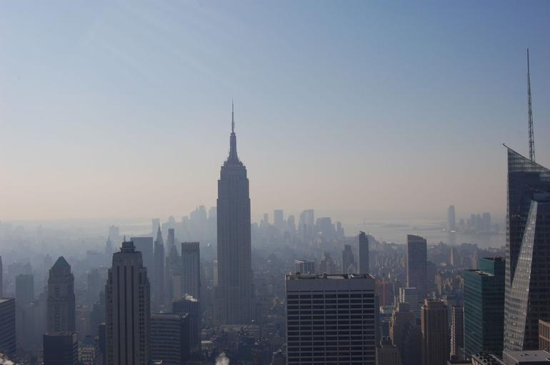 View of the Empire State Building from Top of the Rock - New York City