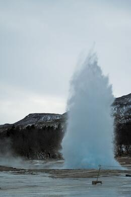 Photo of Reykjavik Gulfoss and Geysir Express Half-Day Trip from Reykjavik Geysir blowing