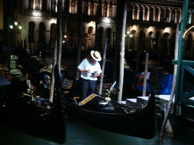 Gondola guy after the end of the day - Venice
