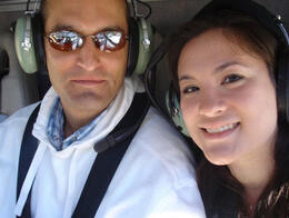 Anthony & I in the Helicopter, World Traveler - June 2011