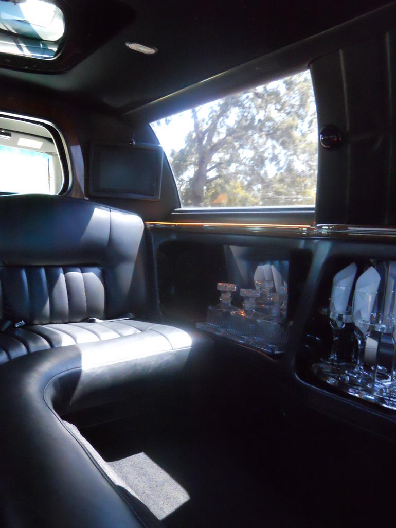 Inside of limo - Napa & Sonoma