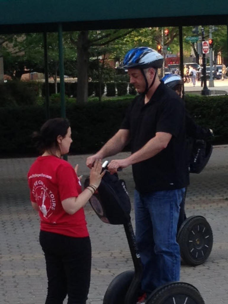 John gets Segway training - Washington DC