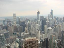 Looking towards downtown Chicago from the 94th floor of the Hancock building. Amazing views! - August 2008