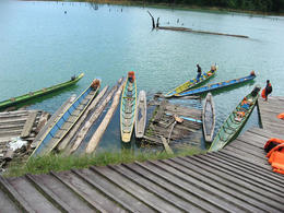 Traditional Iban longboats - July 2012