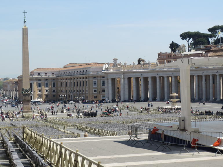 Looking out at Vatican city - Rome