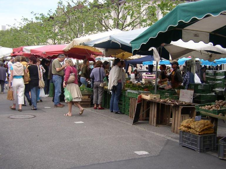 Shopping at the Carouge Market, Geneva - Geneva