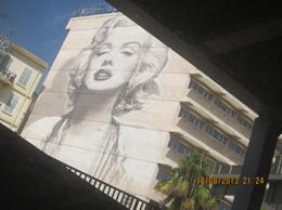 Marilyn Manroe. My wife and I took the photo in Cannes. , Shang Kon L - September 2013