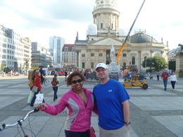 Justin and I on the Berlin bike tour , JOANNE L - September 2012