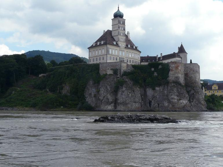 Passing a castle on Danube River - Vienna