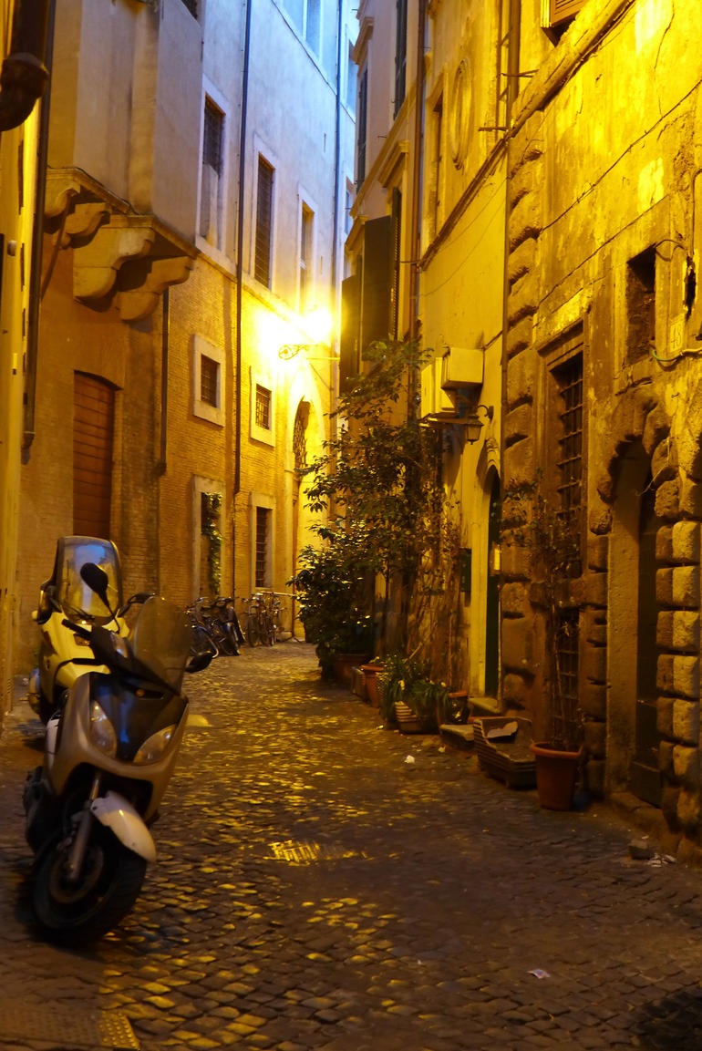side street in Rome on Night tour - Rome