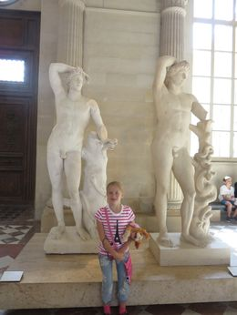My 8 year old grand daughter Ozma at the Louvre. , Sharon L R - August 2015