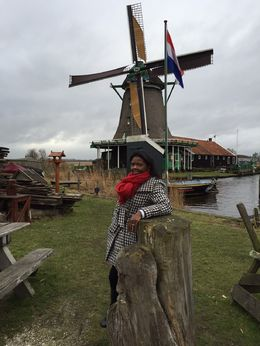 Checking out the windmills in Holland. , RaShonda R - February 2015