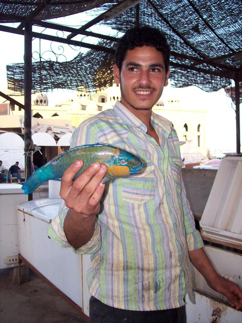 At the fish market - Hurghada