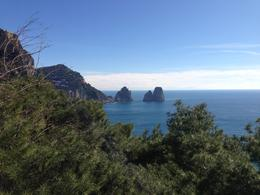 Rock formations at Capri. Absolutely stunning view! , Roslyn W - March 2013