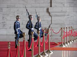 Photo of Taipei Taipei Half-Day City Tour Changing of the guard ceremony in the Chiang Kai-Shek Memorial Hall