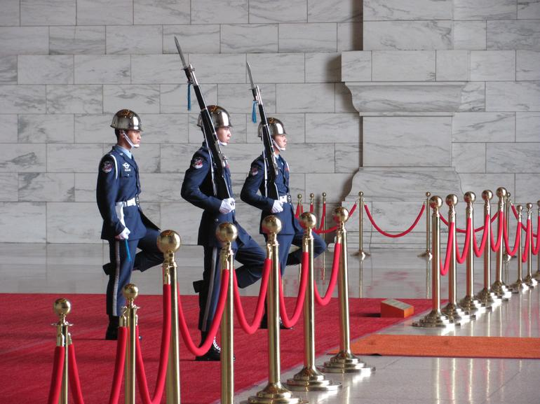 Changing of the guard ceremony in the Chiang Kai-Shek Memorial Hall - Taipei