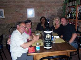 Our group about to eat our wonderful Italian dinner. , Jill G - May 2012