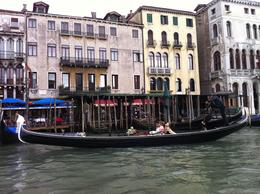 People taking a gondola ride on the Grand Canal, Venice. , Janis C - May 2013