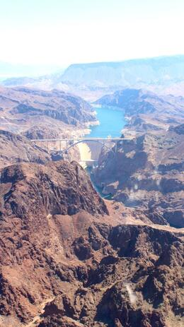 Looking over at Hoover Dam from the top. , Ming Yen O - July 2013