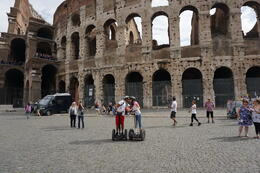 Segway, kissing, and the Colosseum. , Rex G - October 2014