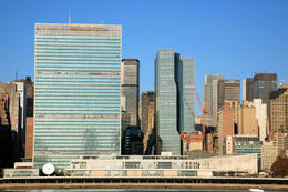United Nations Building from the river - May 2011