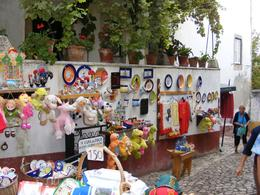 Fair on the street, Obidos, Portugal. - September 2009