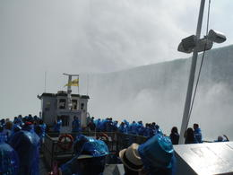 We are just close to the Canadian Falls. So much mist and water around but everybody on board was just amazed and smiling! , Tetsuya K - August 2014