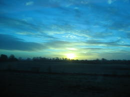 Beautiful sunrise over the countryside , SaraG - December 2010