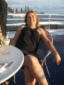 Having a drink on the deck of the cruise ship, Tawana G - July 2009