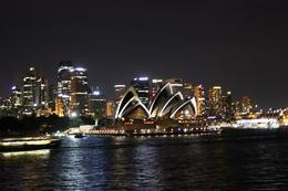 View of the opera house from top deck on way back to Circular Quay. , John Q - May 2013
