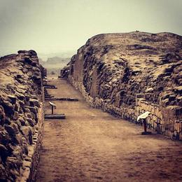 Photo of Lima Temple of Pachacamac Half-Day Tour from Lima Pizarro's Entrance into Lima