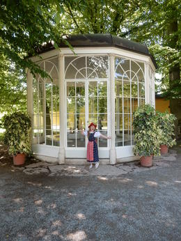 My daughter singing her heart out in from of the Gazebo. , Joanne M - July 2014
