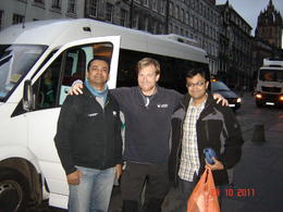 Me on the right with our chirpy and interesting tour guide Mac , Ashok M - November 2011